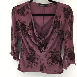 Cut Loose Lavender Floral Top